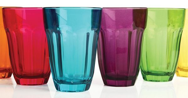 Circleware Overture 6 Colored Juice Glasses 7 75 Ounce