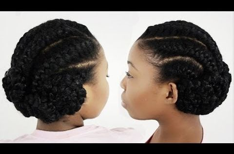3 Goddess Braids Hairstyles: How To Do Goddess Braids With Weave Extensions On Natural