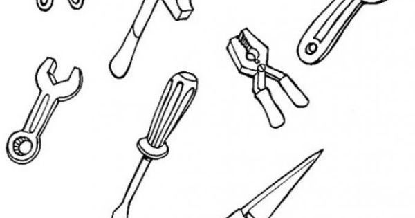 carpenter tools coloring pages - photo#2