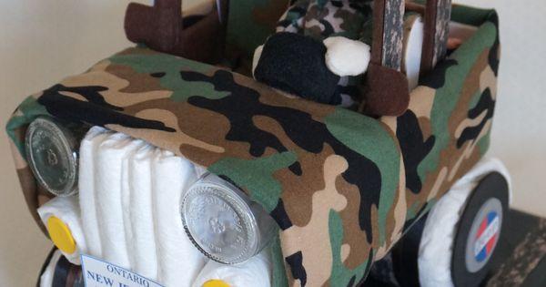 Camouflage Jeep Diaper Cake Www Facebook Com