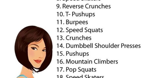 Have 30 minutes to workout? Try this: 30 exercises for 30 seconds