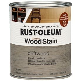 Rust Oleum Ultimate Wood Stain 32 Fl Oz Driftwood Oil Based Interior Stain Staining Wood Wood Stain Colors Driftwood Stain