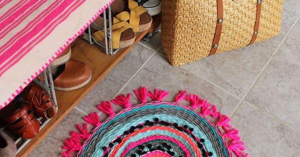 tissage rond en forme de tapis laine d co et accesssoires maison pinterest beautiful. Black Bedroom Furniture Sets. Home Design Ideas