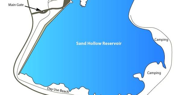 Sand Hollow State Park Map San Hollow Ut Usa Mappery