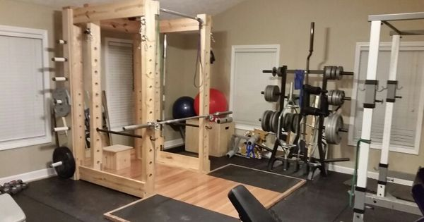 squat rack and platform basement pinterest fitnessraum. Black Bedroom Furniture Sets. Home Design Ideas