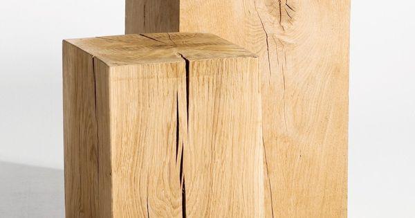 bout de canap ch ne merlin 3 tailles h30 35 45cm 74 25 ampm poufs bouts de canap. Black Bedroom Furniture Sets. Home Design Ideas