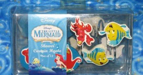 New Disney The Little Mermaid Shower Curtain Hooks Little