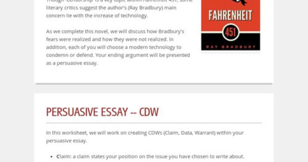fahrenheit 451 essays on technology