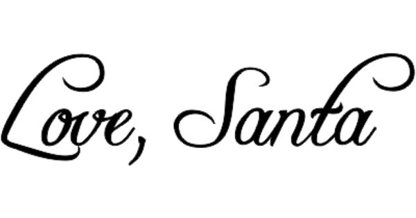 Love, Santa Signature Stamp | Holiday Address Stamps | Pinterest ...