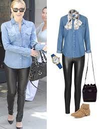 Resultado De Imagen Para Blusa Jeans Como Combinar Denim Outfit Casual Outfits Outfits With Leggings