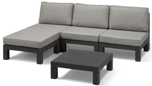 48 Off Allibert Nevada Lounge Set 5 Piece Graphite Cool Grey