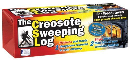 Creosote Sweeping Log For Fireplaces Pack Of 2 Fireplace Accessories Home Decor Accessories Wood Stove Chimney