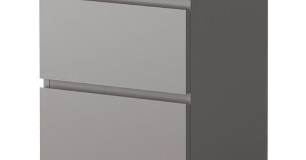 malm byr med 2 l dor ikea kan ven anv ndas som s ngbord l dorna som r l tta att ppna och. Black Bedroom Furniture Sets. Home Design Ideas