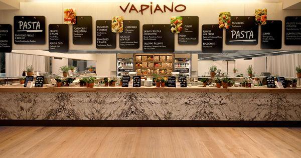 100 vapiano 39 s refresh wien matteo thun interior bar for Food bar wien