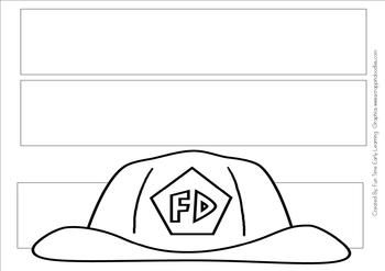 Fire Fighter Hat Pattern And Craft Activity Fire Safety