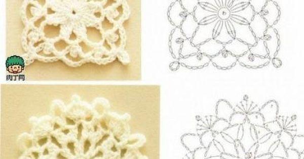 crochet flowers charts