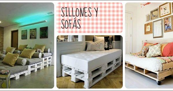 Reciclar con palets sillones y sofas decora tu vida - Reciclar con palets ...