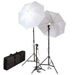 Photo Studio Umbrella Continuous Lighting Kits With Carrying Case 675 Watt Output Ul303 Triplekit Case Photo Studio Lighting Cool Lighting Cfl Bulbs
