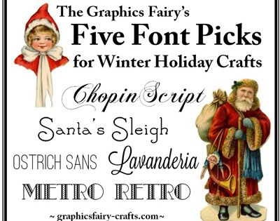*The Graphics Fairy LLC*: The Graphic Fairy's Fibe Font Picks for Winter