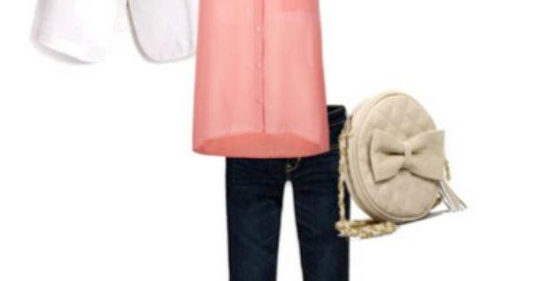 white blazer, flowy tank, skinny jeans, statement flats