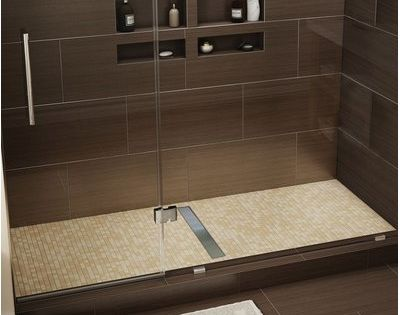 Tile Redi 60 X 42 Single Threshold Shower Base With Drain Grate