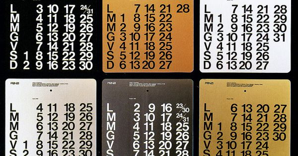 Calendar Typography Map : Fenzi calendars massimo vignelli decorative art
