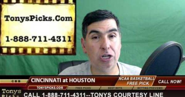Cincinnati Bearcats Vs Houston Cougars Pick Prediction College Basketball Odds Preview 3 3 2016 Ncaa College Football College Basketball Football Odds