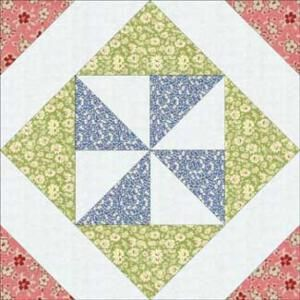 Pinwheel In A Square Quilt Block Pattern 12 Finished By Lucy Pinwheel Quilt Block Star Quilt Blocks Quilt Blocks