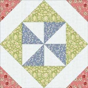 Pinwheel In A Square Quilt Block Pattern 12 Finished By Lucy Pinwheel Quilt Block Star Quilt Blocks Quilt Blocks