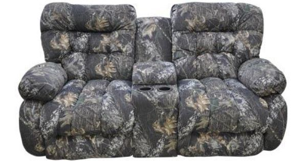 Camo Reclining Loveseat W Console Make A House A Home