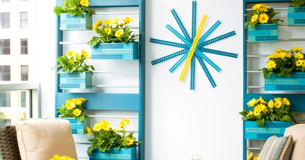 Vertical garden planters and rack brought to you by lowes creative ideas take your gardening in - Lowes creative ideas app ...