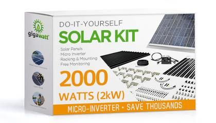 2kw Solar Panel Installation Kit 2000 Watt Solar Pv System For Homes Complete Grid Tie Systems Diy Solar Panel Solar Kit Solar Power Panels
