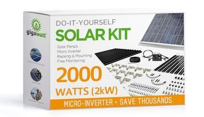 2kw Solar Panel Installation Kit 2000 Watt Solar Pv System For Homes Complete Grid Tie Systems Diy Solar Panel Solar Kit Solar Power Panels