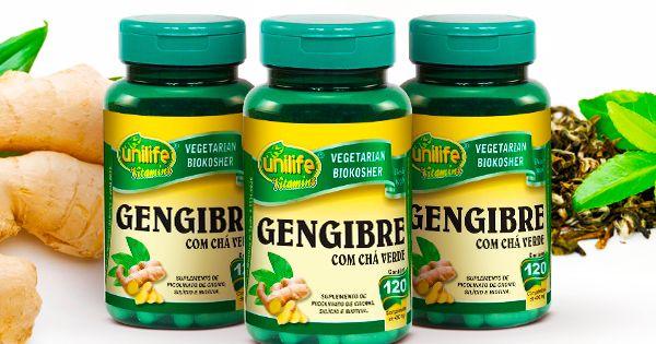 Gengibre Com Cha Verde 120 Comprimidos Gengibre Cha Verde