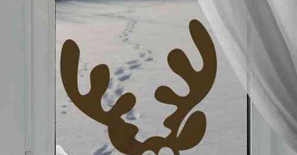 D co de fen tre avec un sticker de no l activit s for Decoration fenetre renne
