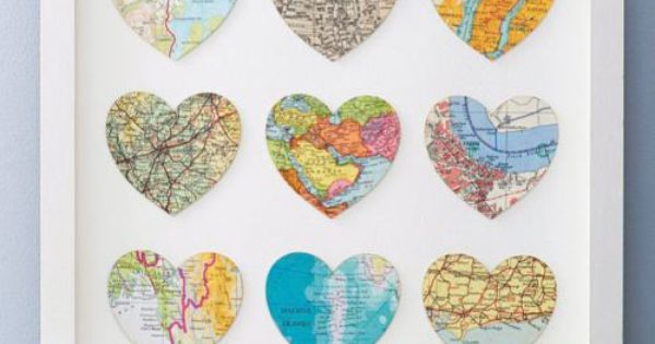 30 Creative Diy Maps Decorations Heart Map Nine D 39 Urso