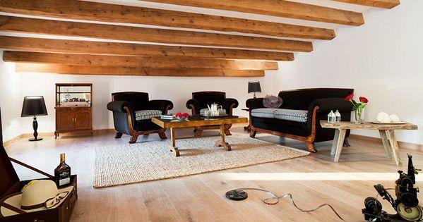 Techo con vigas de madera de decoraci n me encanta - Vigas de decoracion ...