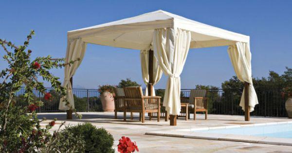 Tonnelle autoportante marrakech m tonnelle autoportante jardin terrasse et - Canvas pvc witte leroy merlin ...