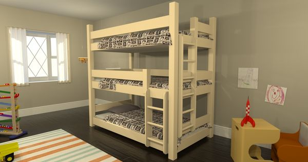 3 level bunk beds design ideas using your own design