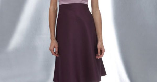 Sweetheart A-line with ruffle embellishment satin bridesmaid dress -- all dark purple