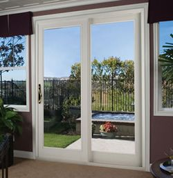 Sliding Window Design With Door Frame Wood Also Panel Mirror Will Beautify House And Looked More Stately Sliding Patio Doors Patio Doors Modern Patio Doors