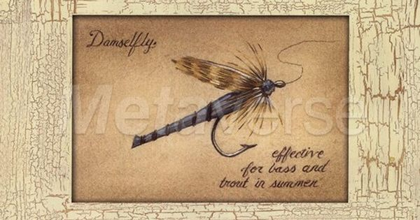 Fishing flies fishing decor rustic fishing decor for Fly fishing decor