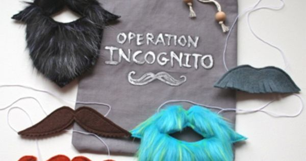mmmcrafts: handmade gifts 2011: operation incognito -- pdf pattern for available on