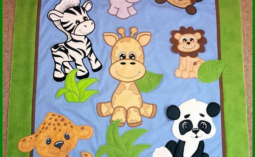 Jungle Animal Collection Large Applique Machine Embroidery Projects Animal Baby Quilt Embroidery Projects