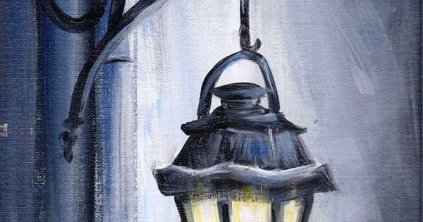 SALEOriginal Acrylic Painting Night Light by JoleyWileyFineArt, $19.99
