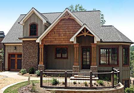 Plan W92305MX: Mountain, Narrow Lot, Vacation, Country, Craftsman, Cottage, Sloping Lot, Photo