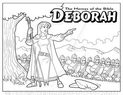 Deborah Coloring Page By Artistxero Artesanato Da Escola