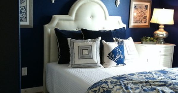 Bedroom Home Pinterest Blue White Bedrooms Navy Blue And Blue