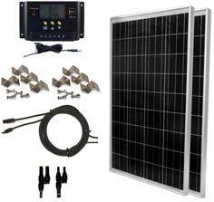 Global Solar Supply 200 Watt Solar Panel Kit 2pcs 100w Solar Panels 30a Lms Pwm Charge Controller Solar Cable Rv Solar Panels Solar Panel Kits Rv Solar