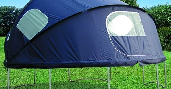 Trampoline Tent!! I want this!! We used to sleep on the trampoline